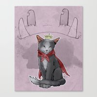 sith Canvas Prints featuring Cait Sith by poopbird