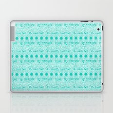 Lacey Lace - White Teal Laptop & iPad Skin