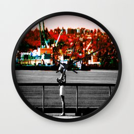 Living in the Gray World Wall Clock