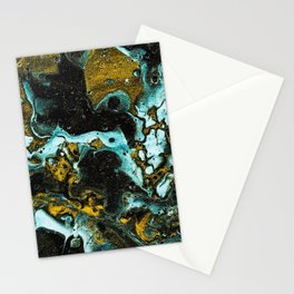 paint stains mixing abstraction liquid colorful Stationery Cards