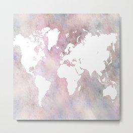 Design 66 world map Metal Print