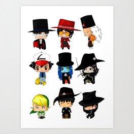Anime Hatters Art Print