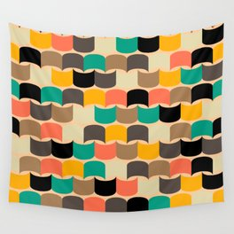 Retro abstract pattern Wall Tapestry