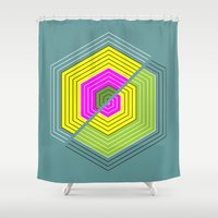 illusion Shower Curtains featuring ILLUSION by d.ts