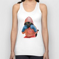 boxing Tank Tops featuring Boxing Cat 2  by Tummeow