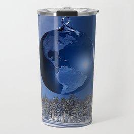 Beautful blue christmas ornaments Travel Mug