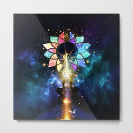 Kingdom Hearts - Combined Keyblade Metal Print