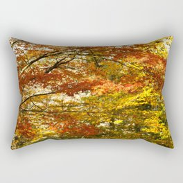 Forest foliage in Autumn Rectangular Pillow