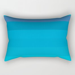 Into the Blue - Variable Azure Blue Stripes Pattern  Rectangular Pillow