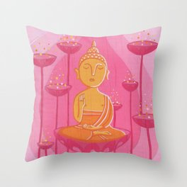 Buddha G Throw Pillow
