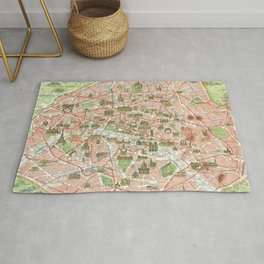 Vintage Map of Paris (1920) Rug