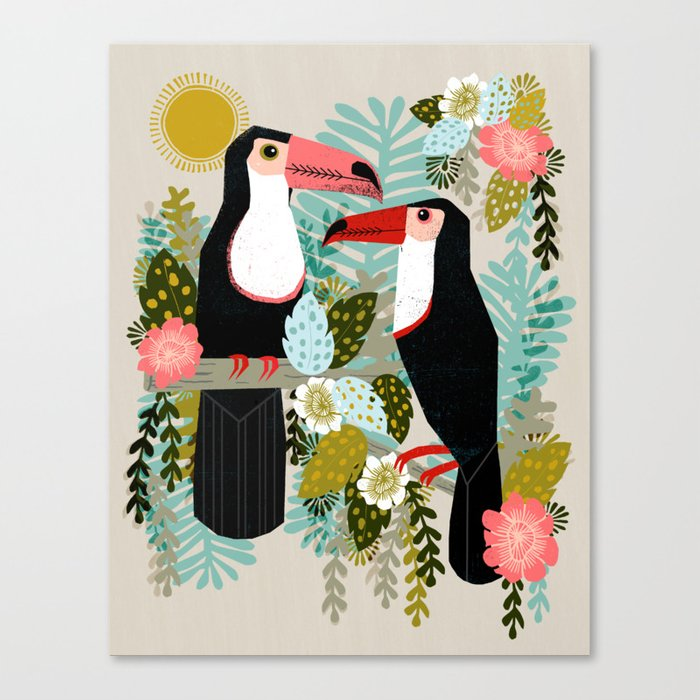 Toucans by Andrea Lauren  Canvas Print
