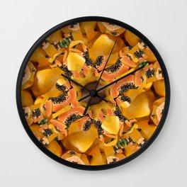 papaya mandala Wall Clock