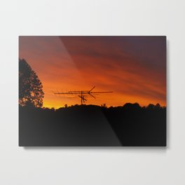 Transmitting Mixed Signals Metal Print