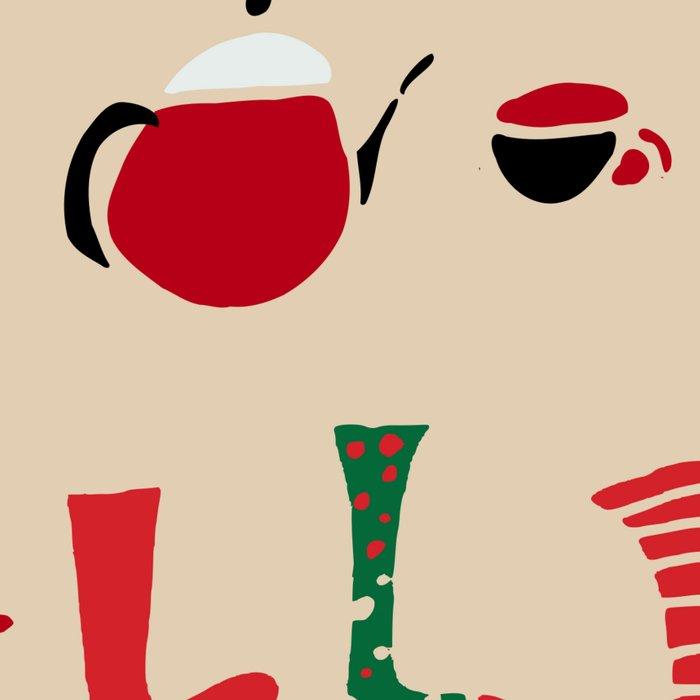 Christmas Cosy Ivory Leggings