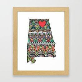 I Heart Huntsville Framed Art Print