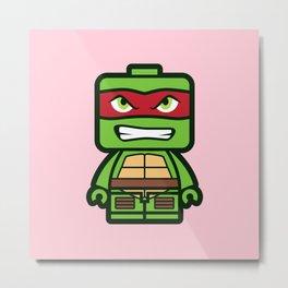 Chibi Raphael Ninja Turtle Metal Print