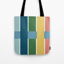 Basket Weave in Multicolor Tote Bag