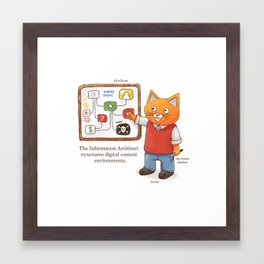 The Information Architect Framed Art Print