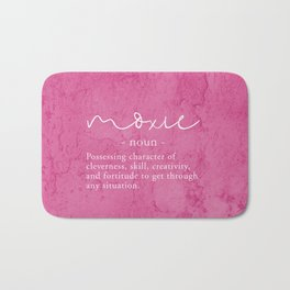 Moxie Definition - Pink Texture Wall Bath Mat