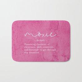 Moxie Definition - Pink Texture Wall Bath Mat