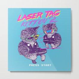 Laser Tag Kitten 2 Metal Print