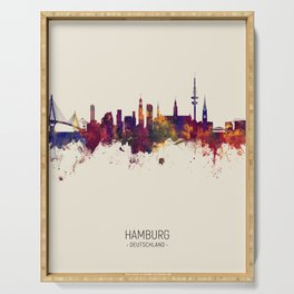 Hamburg Germany Skyline Serving Tray