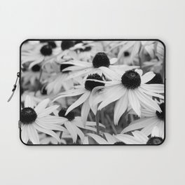 Black and White Susans (Black-Eyed Susan Wildflowers) Laptop Sleeve