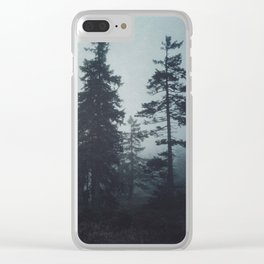 Leave In Silence Clear iPhone Case