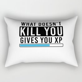 What Doesn't Kill You Gives You Xp T Shirt Gamer Gift Idea Rectangular Pillow