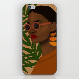 girl in shades iPhone Skin