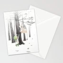 Climbing trees is hard in mittens Stationery Cards