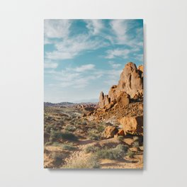Rock Mountains in the Desert Metal Print