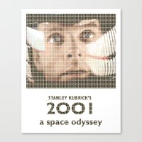 2001 Canvas Prints featuring 2001 by cocksoupart