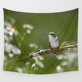 Meadow Hummingbird Art Wall Tapestry