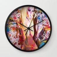 nicki Wall Clocks featuring nicki baby by Beauti Asylum