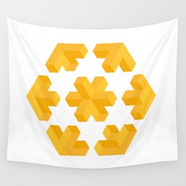 Isometric flower Wall Tapestry