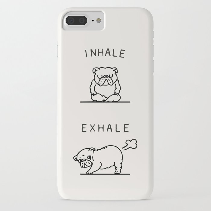inhale exhale english bulldog iphone case