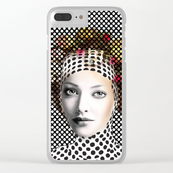 Dots Woman Clear iPhone Case