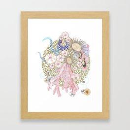 Golden Reef Framed Art Print
