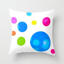 Colorful Bold Bubble Design Throw Pillow