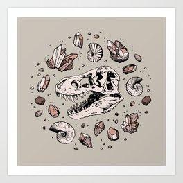Geo-rex Vortex   Rose Quartz Art Print