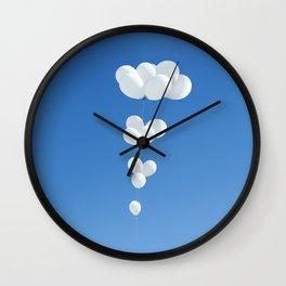 Saudade (White balloons) Wall Clock