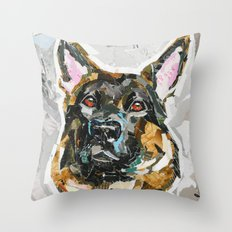Hans the German Shepherd Throw Pillow