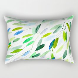 Nature love || watercolor Rectangular Pillow