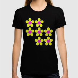 Spring Daisies Jelly Art - Lavender Yellow Pink T-shirt