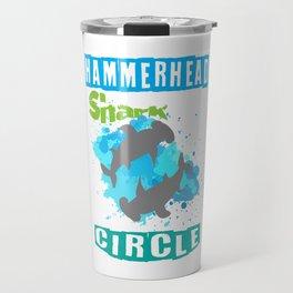 The great hammerhead shark Tee makes a great gift for shark lover Tee Design Hammerhead Shark Circle Travel Mug
