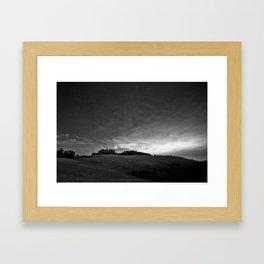 Noite de Outuno - Pedra Grande / Atibaia - SP / Brasil Framed Art Print