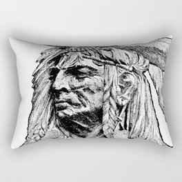 Chief / Vintage illustration redrawn and repurposed Rectangular Pillow