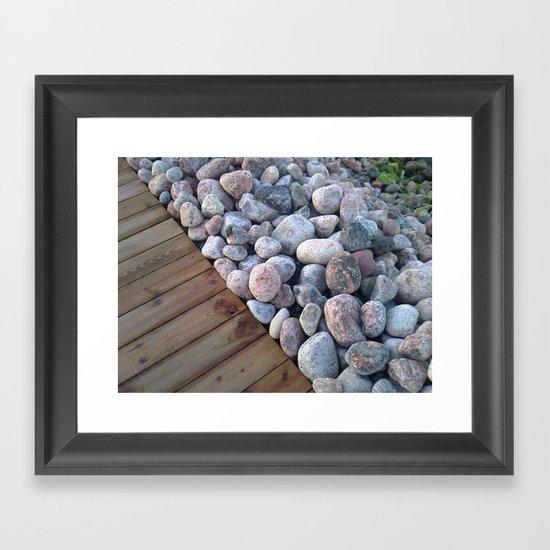 Wood&Stone Framed Art Print